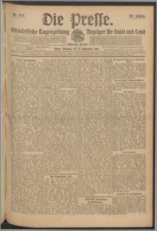 Die Presse 1910, Jg. 28, Nr. 226 Zweites Blatt, Drittes Blatt