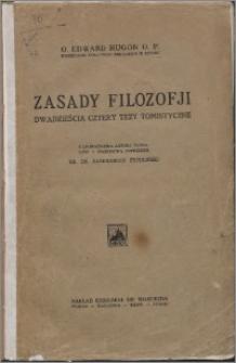 Zasady filozofji : dwadzieścia cztery tezy tomistyczne