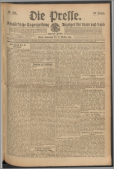 Die Presse 1910, Jg. 28, Nr. 246 Zweites Blatt, Drittes Blatt