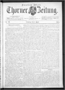 Thorner Zeitung 1893, Nr. 83 Zweites Blatt