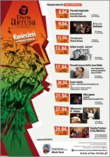 Kwiecień w Dworze Artusa 2016 : program : imprezy biletowane