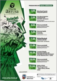 Kwiecień w Dworze Artusa 2016 : program : imprezy niebiletowane