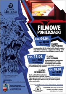 Filmowe poniedziałki : filmowe niespodzianki : 04.04 ; 11. 04 ; 18.04