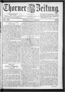 Thorner Zeitung 1893, Nr. 213 Erstes Blatt