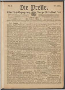 Die Presse 1911, Jg. 29, Nr. 2 Zweites Blatt, Drittes Blatt