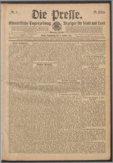 Die Presse 1911, Jg. 29, Nr. 4 Zweites Blatt, Drittes Blatt
