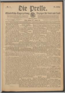 Die Presse 1911, Jg. 29, Nr. 5 Zweites Blatt, Drittes Blatt