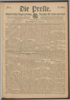 Die Presse 1911, Jg. 29, Nr. 6 Zweites Blatt, Drittes Blatt