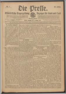 Die Presse 1911, Jg. 29, Nr. 7 Zweites Blatt, Drittes Blatt, Viertes Blatt