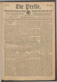 Die Presse 1911, Jg. 29, Nr. 9 Zweites Blatt, Drittes Blatt