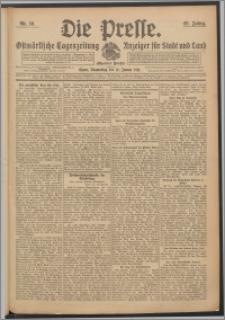 Die Presse 1911, Jg. 29, Nr. 10 Zweites Blatt, Drittes Blatt