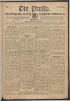 Die Presse 1911, Jg. 29, Nr. 14 Zweites Blatt, Drittes Blatt