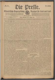 Die Presse 1911, Jg. 29, Nr. 15 Zweites Blatt, Drittes Blatt