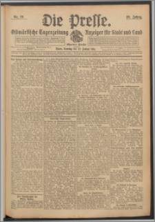 Die Presse 1911, Jg. 29, Nr. 19 Zweites Blatt, Drittes Blatt, Viertes Blatt