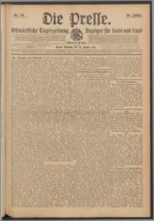 Die Presse 1911, Jg. 29, Nr. 20 Zweites Blatt, Drittes Blatt