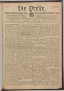 Die Presse 1911, Jg. 29, Nr. 21 Zweites Blatt, Drittes Blatt