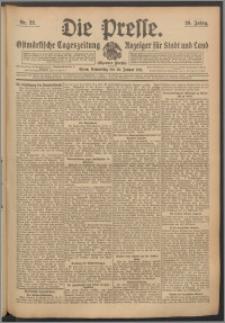 Die Presse 1911, Jg. 29, Nr. 22 Zweites Blatt, Drittes Blatt