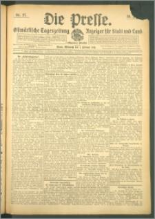Die Presse 1911, Jg. 29, Nr. 27 Zweites Blatt