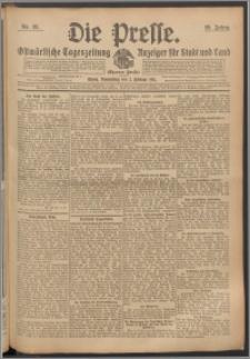 Die Presse 1911, Jg. 29, Nr. 28 Zweites Blatt, Drittes Blatt