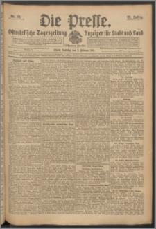 Die Presse 1911, Jg. 29, Nr. 31 Zweites Blatt, Drittes Blatt, Viertes Blatt