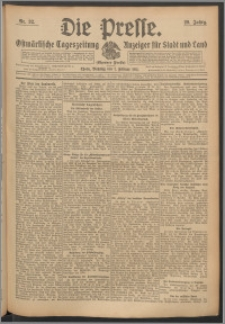 Die Presse 1911, Jg. 29, Nr. 32 Zweites Blatt, Drittes Blatt