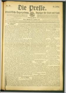 Die Presse 1911, Jg. 29, Nr. 33 Zweites Blatt, Drittes Blatt