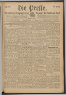 Die Presse 1911, Jg. 29, Nr. 34 Zweites Blatt, Drittes Blatt