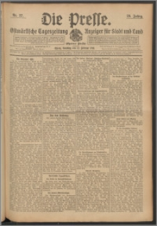 Die Presse 1911, Jg. 29, Nr. 37 Zweites Blatt, Drittes Blatt, Viertes Blatt