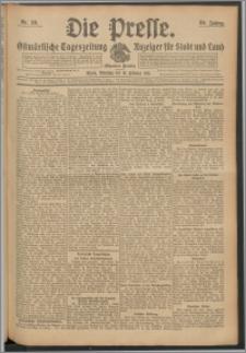 Die Presse 1911, Jg. 29, Nr. 38 Zweites Blatt, Drittes Blatt