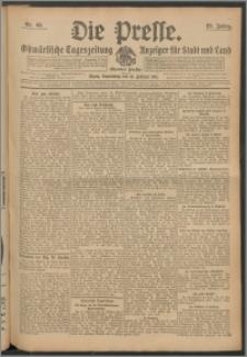 Die Presse 1911, Jg. 29, Nr. 40 Zweites Blatt, Drittes Blatt