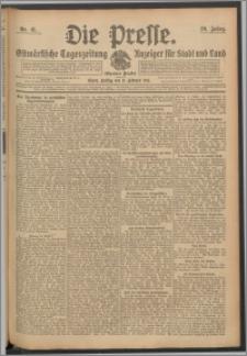 Die Presse 1911, Jg. 29, Nr. 41 Zweites Blatt, Drittes Blatt