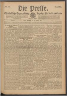 Die Presse 1911, Jg. 29, Nr. 45 Zweites Blatt, Drittes Blatt