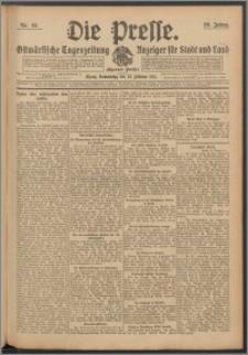 Die Presse 1911, Jg. 29, Nr. 46 Zweites Blatt, Drittes Blatt