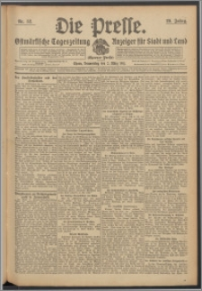 Die Presse 1911, Jg. 29, Nr. 52 Zweites Blatt, Drittes Blatt