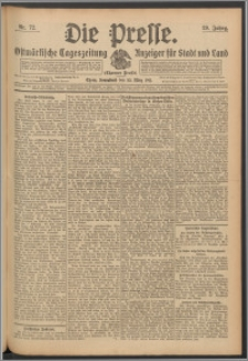 Die Presse 1911, Jg. 29, Nr. 72 Zweites Blatt, Drittes Blatt