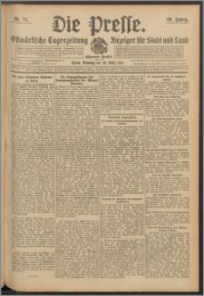 Die Presse 1911, Jg. 29, Nr. 74 Zweites Blatt, Drittes Blatt