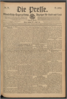 Die Presse 1911, Jg. 29, Nr. 79 Zweites Blatt, Drittes Blatt, Viertes Blatt, Fünftes Blatt