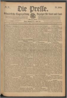 Die Presse 1911, Jg. 29, Nr. 81 Zweites Blatt, Drittes Blatt