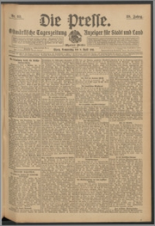 Die Presse 1911, Jg. 29, Nr. 82 Zweites Blatt, Drittes Blatt