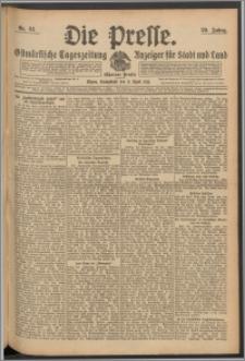 Die Presse 1911, Jg. 29, Nr. 84 Zweites Blatt, Drittes Blatt