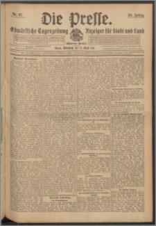 Die Presse 1911, Jg. 29, Nr. 87 Zweites Blatt, Drittes Blatt