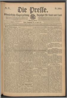 Die Presse 1911, Jg. 29, Nr. 88 Zweites Blatt, Drittes Blatt