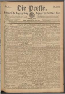 Die Presse 1911, Jg. 29, Nr. 97 Zweites Blatt, Drittes Blatt