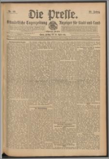 Die Presse 1911, Jg. 29, Nr. 99 Zweites Blatt, Drittes Blatt
