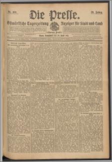 Die Presse 1911, Jg. 29, Nr. 100 Zweites Blatt, Drittes Blatt