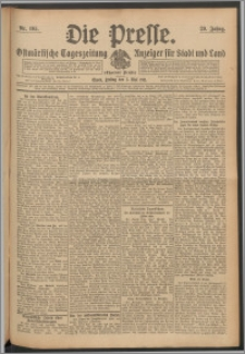 Die Presse 1911, Jg. 29, Nr. 105 Zweites Blatt, Drittes Blatt