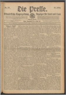 Die Presse 1911, Jg. 29, Nr. 116 Zweites Blatt, Drittes Blatt