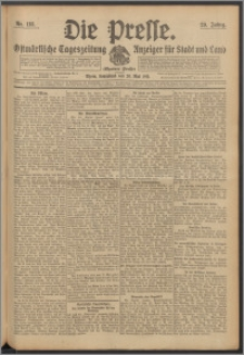Die Presse 1911, Jg. 29, Nr. 118 Zweites Blatt, Drittes Blatt