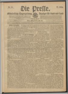Die Presse 1911, Jg. 29, Nr. 151 Zweites Blatt, Drittes Blatt