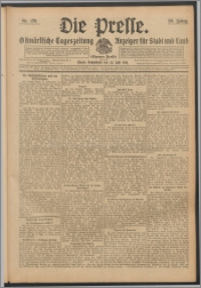 Die Presse 1911, Jg. 29, Nr. 170 Zweites Blatt, Drittes Blatt